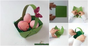 Hier ist, wie man einen schönen Ostern-Korb bildet ... aus Papier heraus!