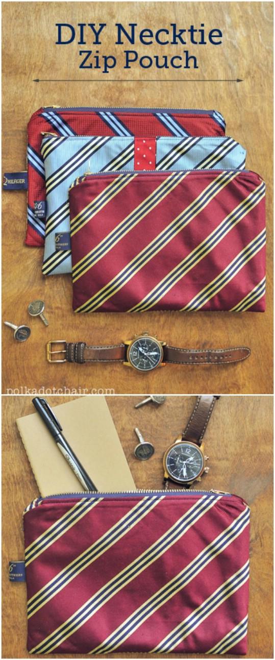 25 nette Repurposed-Ideen, zum der alten Krawatten in wundervolle neue Sachen zu machen