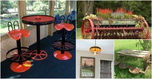 10 Künstlerische Farm Equipment Repurposing Ideen für Haus und Garten Dekor