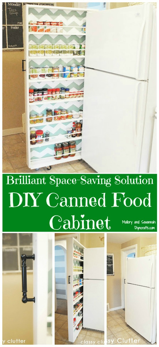Brilliant platzsparende Lösung - DIY Conserved Food Cabinet