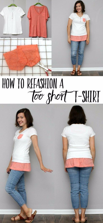 35 einfache T-Shirt Makeover für kreative coole Kleidung