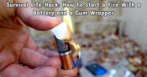 Survival Life-Hack: Wie man ein Feuer mit einer Batterie und einem Gummi-Wrapper beginnt