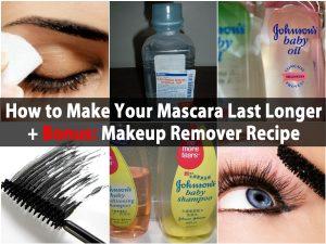 So machen Sie Ihre Wimperntusche länger + Bonus Makeup Remover Rezept