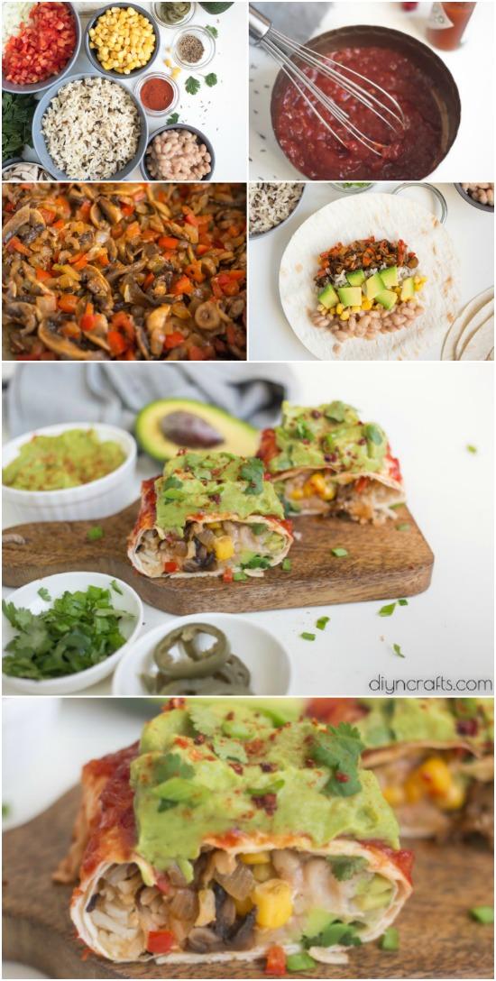 Diese Vegan Burritos sind der perfekte fettarme Protein Snack