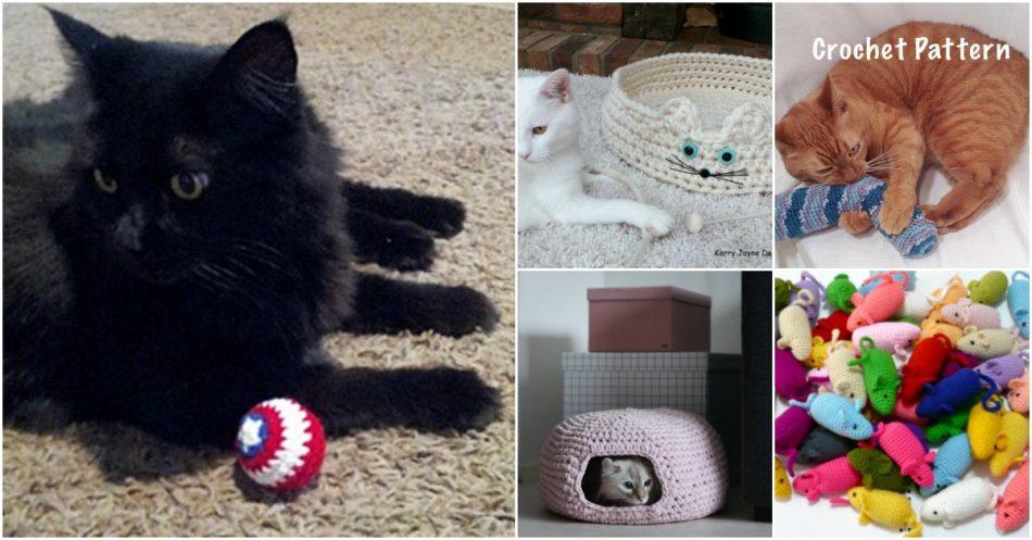 25 lustige und einfache Häkelanleitungen für Ihre Katze