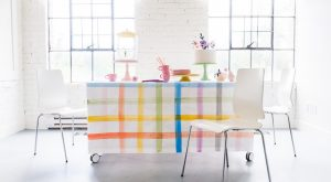 Painted Plaid Paper Tischdecke