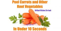 Kitchen Life-Hack: Schälen Sie Karotten und anderes Wurzelgemüse in weniger als 10 Sekunden