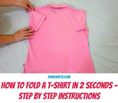 Holen Sie sich Ihre Wäsche schneller gemacht, indem Sie lernen, ein Hemd in nur 2 Sekunden falten!