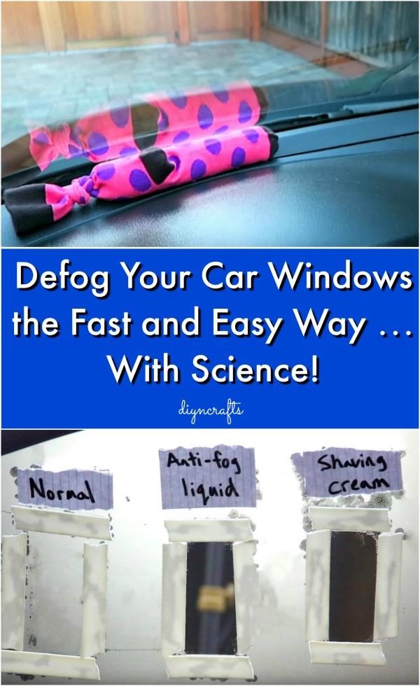 Defog Your Car Windows die schnelle und einfache Art ... Mit der Wissenschaft!