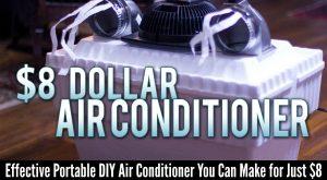 Effektive tragbare DIY Klimaanlage, die Sie für nur $ 8 machen können