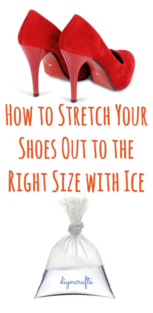 Wie Sie Ihre Schuhe mit Eis auf die richtige Größe strecken
