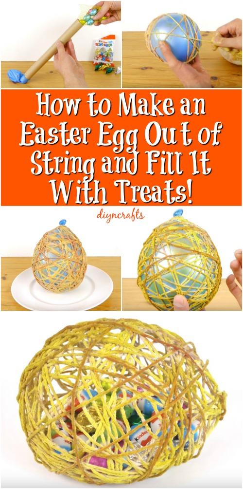 Wie man ein Osterei aus der Schnur macht und es mit Leckereien füllt!