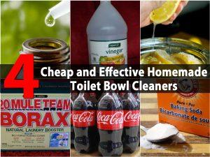 4 billige und effektive hausgemachte Toilettenschüssel Reiniger