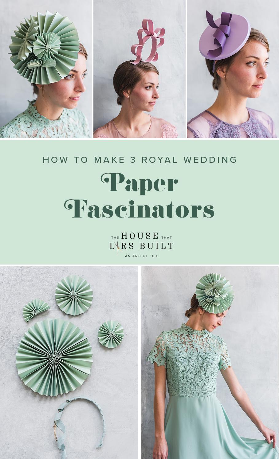 Drei DIY Papier Fascinators