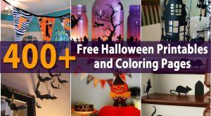 400+ Kostenlose Halloween Ausdrucke und Malvorlagen
