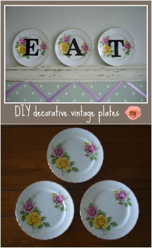 25 DIY dekorative Teller, die Ihren Gerichten einen handgemalten Look geben