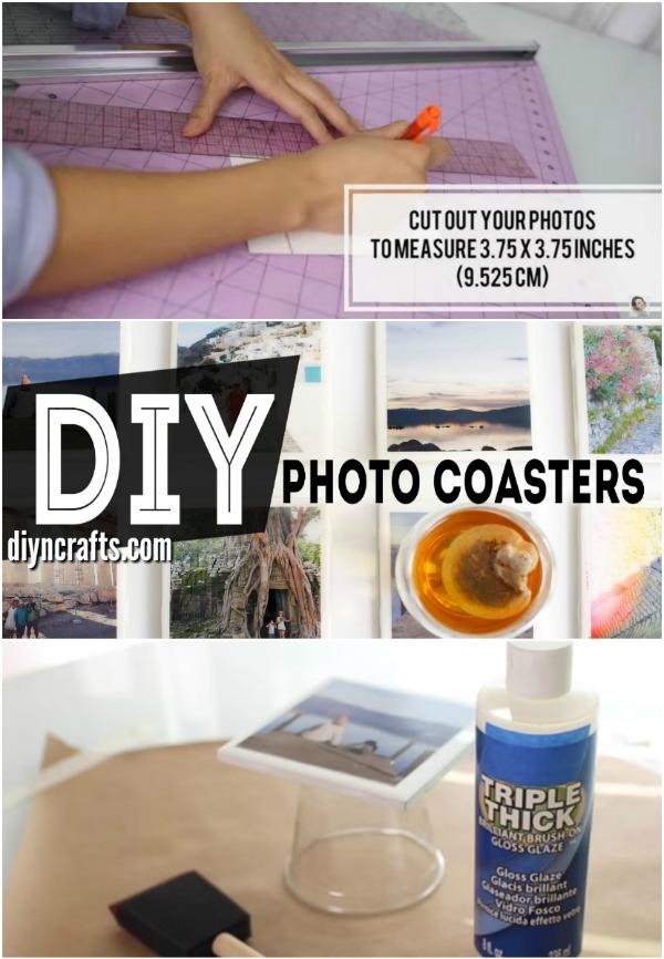 Wie man DIY Getränk-Untersetzer herstellt, die mit Fotografien personifiziert werden