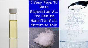 3 einfache Möglichkeiten, Magnesium-Öl zu machen - die gesundheitlichen Vorteile werden Sie überraschen!