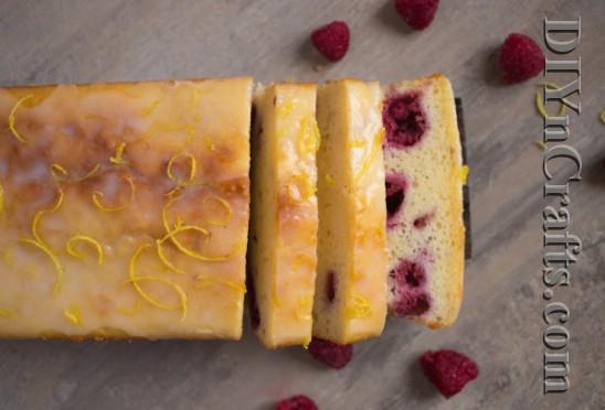 Diese Zitrone Himbeer Laib ist der perfekte Sommer Dessert
