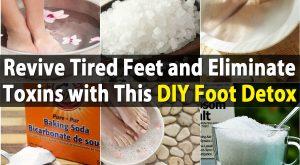 Belebe müde Füße und beseitigen Giftstoffe mit diesem DIY Fuß Detox einweichen