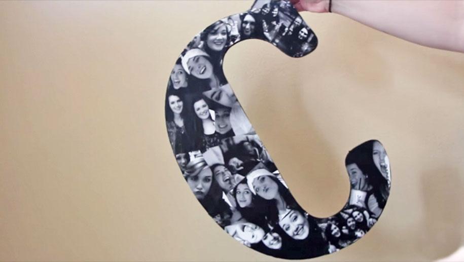 Setzen Sie Ihre Bilder auf Anzeige mit diesem netten Foto-Buchstaben