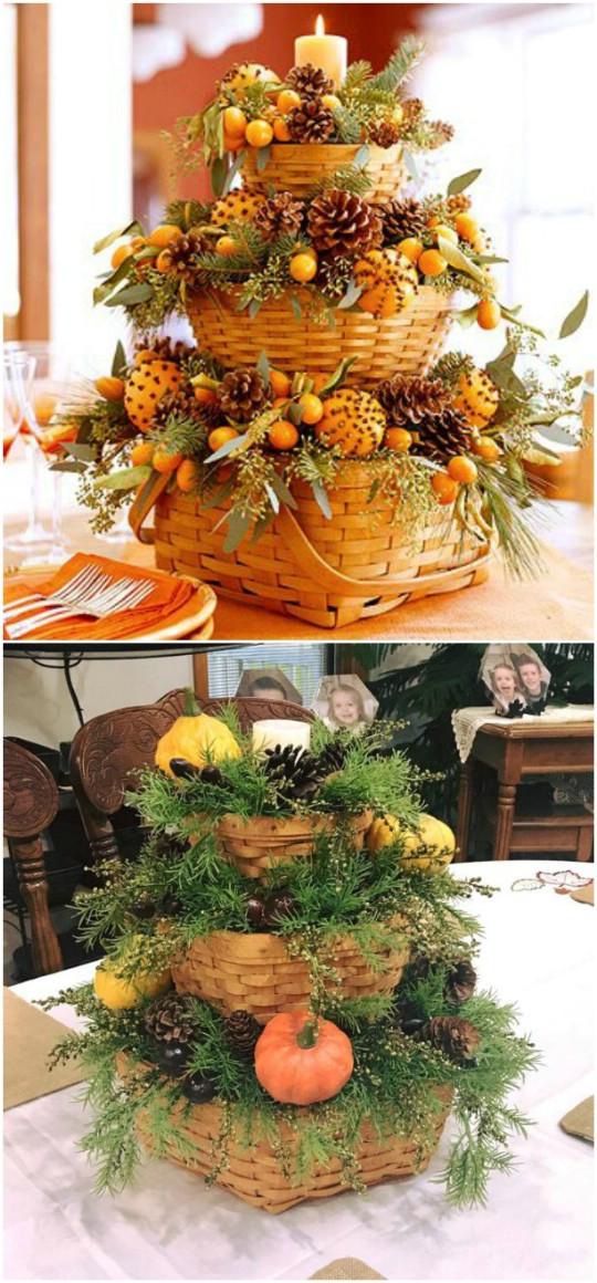 15 Spaß und kreative Möglichkeiten, mit Körben Thanksgiving zu dekorieren