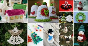 30 einfache häkeln Weihnachtsschmuck, um Ihren Baum zu dekorieren