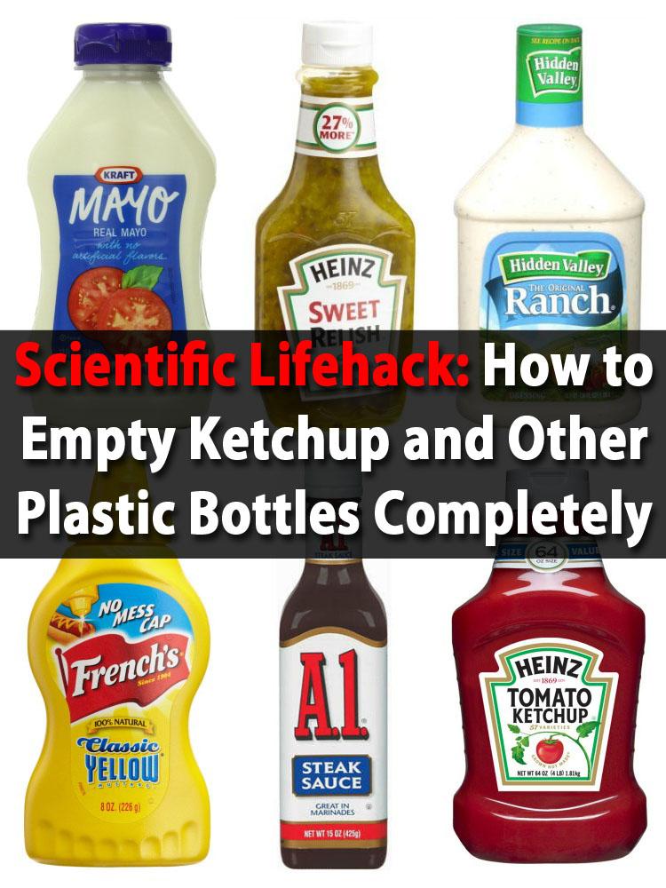 Scientific Lifehack: Wie man Ketchup und andere Plastikflaschen vollständig entleert