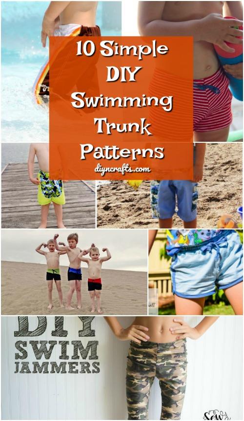 10 einfache DIY-Schwimmen-Stamm-Muster für alle Jungen in Ihrem Leben