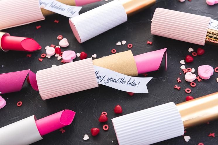 Papier Lippenstift Valentines