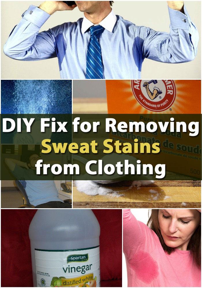 DIY Fix zum Entfernen von Schweißflecken von Kleidung