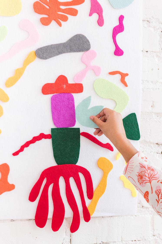 DIY Matisse Filzbrett