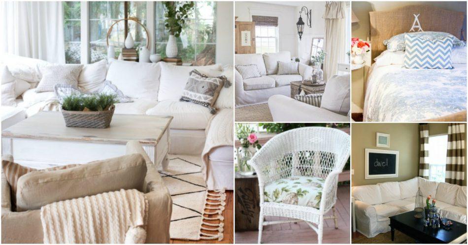 20 einfach zu DIY Slipcovers, die neuen Stil zu alten Möbeln hinzufügen
