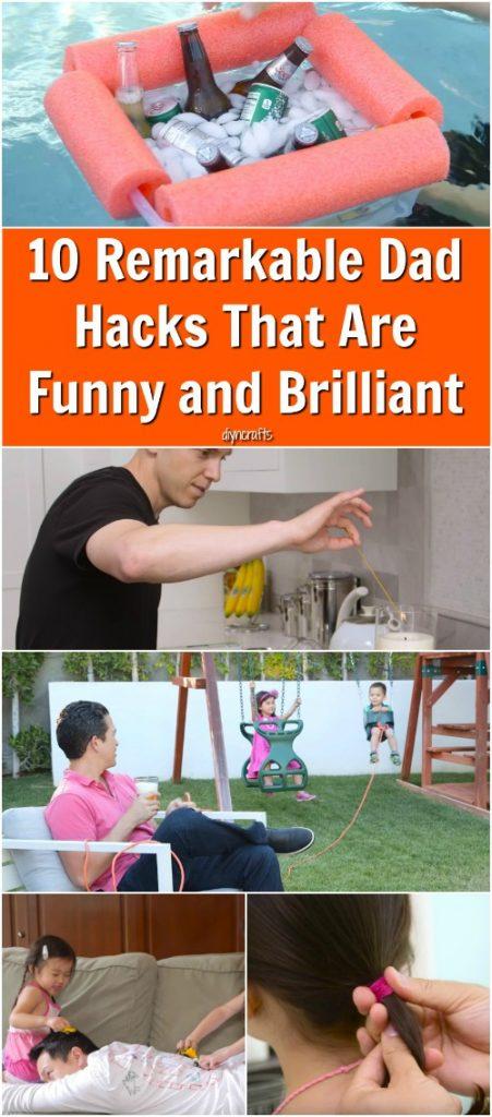 10 Bemerkenswerte Dad Hacks, die lustig und brillant sind