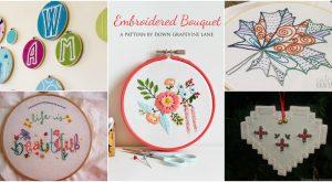 25 einfache Stickerei-Projekte für Anfänger mit freien Mustern