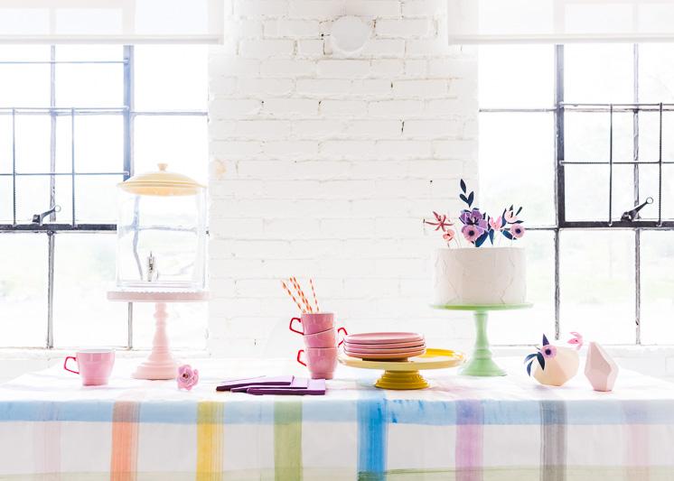 Painted Plaid Paper Tischdecke