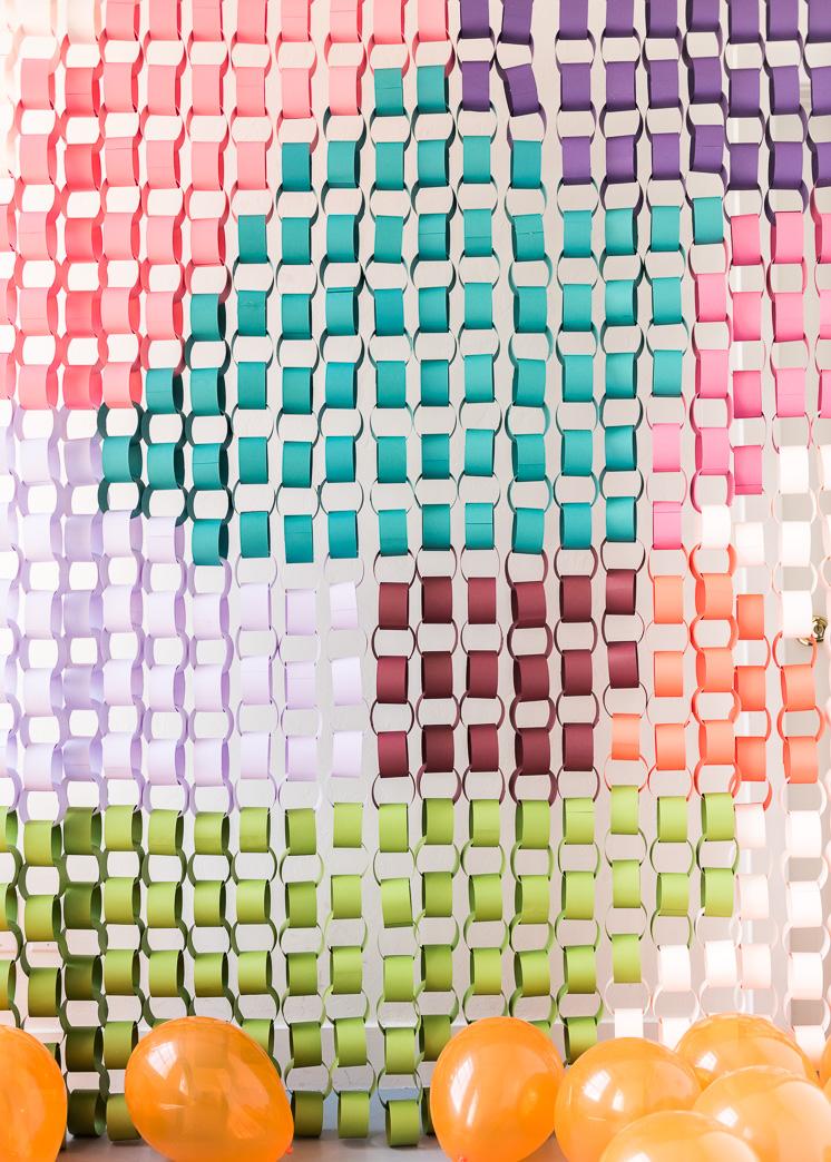 Übergroßes Papier-Ketten-Wandbild