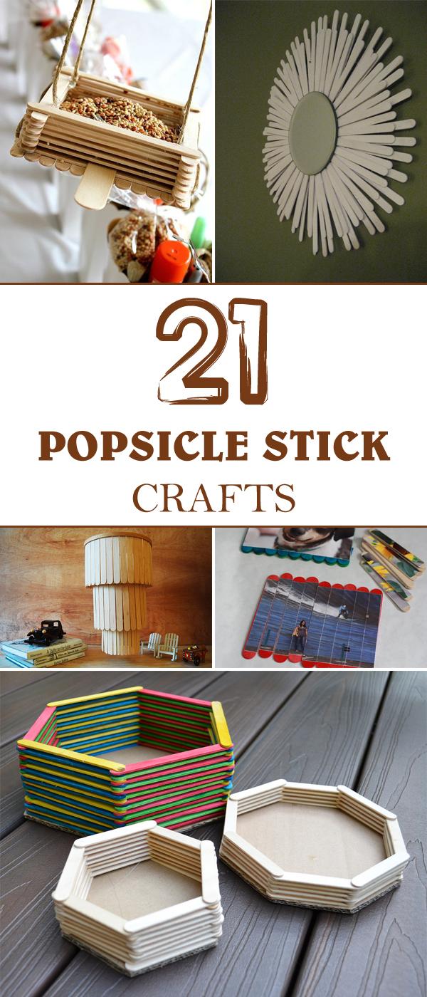 21 Super Popsicle Stick Handwerk