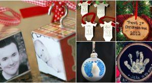 10 unvergessliche DIY Baby's erste Weihnachtsschmuck