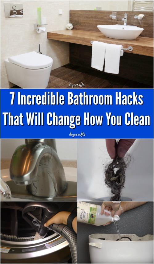 7 unglaubliche Bad Hacks, die ändern, wie Sie reinigen