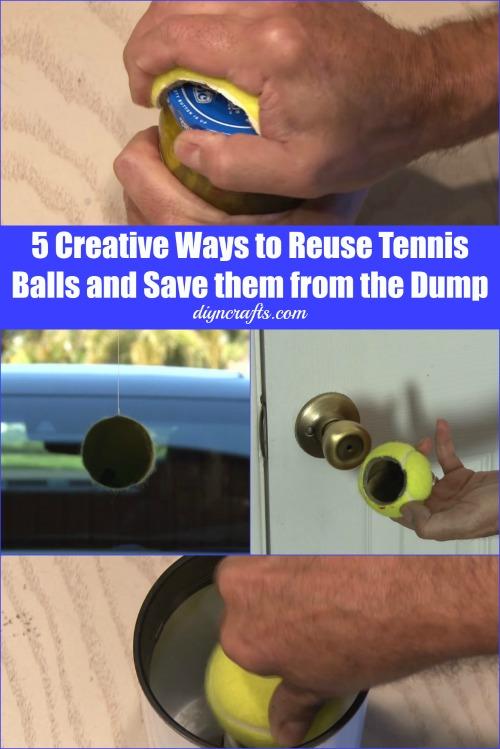 5 kreative Möglichkeiten, Tennisbälle wiederzuverwenden und sie von der Dump zu speichern