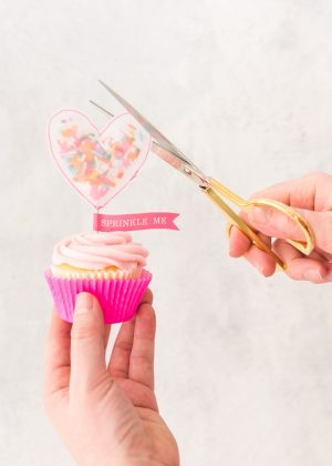 Sprinkle mich Cupcake Topper