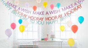 DIY alles Gute zum Geburtstag Banner