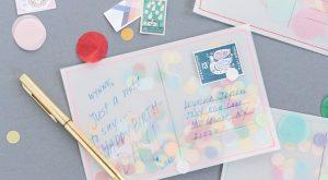 DIY-Konfetti-Postkarte