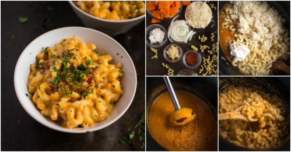 Slow Cooker Butternut Mac und Käse ist eine neue Twist auf einem alten Klassiker