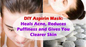 DIY Aspirin Maske: heilt Akne, reduziert Schwellungen und gibt Ihnen eine klarere Haut