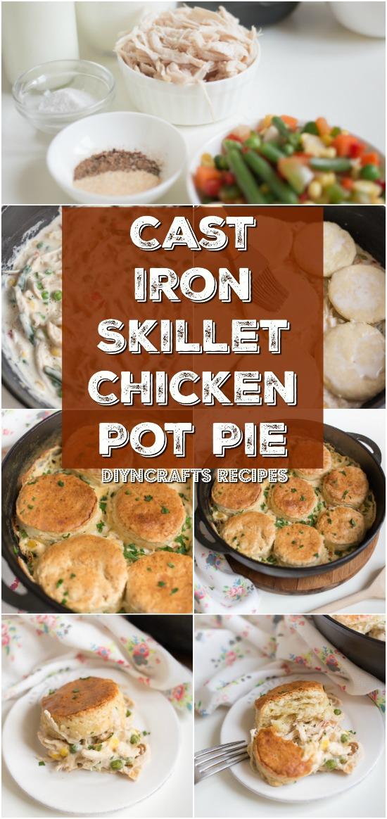Einfach und lecker - Gusseisen Pfanne Chicken Pot Pie ist ein Familienessen Favorit