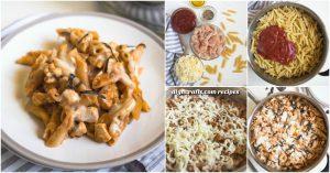 Diese einfache Hühnchen Pasta Skillet wird schnell zu Ihrem Go-To Pasta Rezept