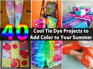 40 cool Tie Dye-Projekte, um Farbe zu Ihrem Sommer hinzuzufügen