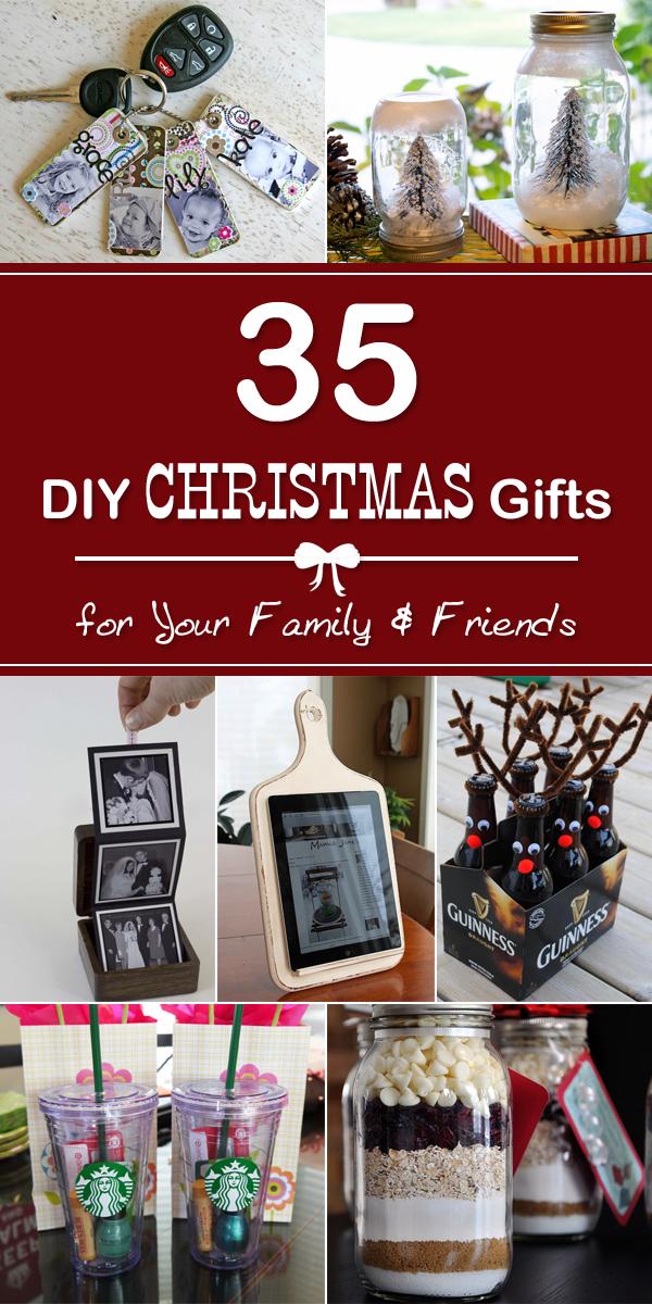 35 einfache DIY Weihnachtsgeschenke für Ihre Familie und Freunde